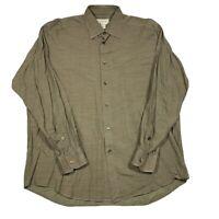 Ermenegildo Zegna Adult Mens XL Multicolor Plaid Long Sleeve Button Front Shirt
