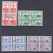 SWAZILAND, KGV1 1947 ROYAL BESUCHEN, SG 42-45, GUT VERWENDET BLOCK 4