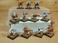 11 CLASSIC METAL WARHAMMER DWARF THUNDERERS PART PAINTED (4090)