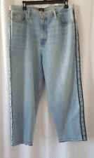 NEW MENS BDG JEANS 36 STRAIGHT CROPPED CROP LIGHT WASH INSIDE OUT SEAMS