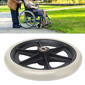 Wheelchair Wheel 8in PU Walker Caster Replacement Skidproof with Ball Bearing