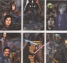 "Star Wars Galaxy 5 - ""Etched Foil Cards"" Set of 6 Chase / Insert Cards #1-6"