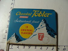 original TOBLER Candy COUNTER DISPLAY w original sign TOBLERONE-TOBLER CHOCOLATE