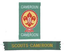 SCOUTS OF CAMEROON (CAMEROUN) - Scout Membership Rank Award & Strip Patch SET