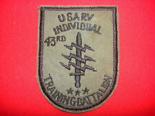 Nam War Subdued Patch USARV 43rd INDIVIDUAL TRAINING BN