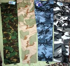 MENS ARMY CARGO CAMO COMBAT  TOUGH WORK TROUSER WAIST 50 - 62 new full fit big