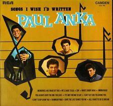 PAUL ANKA songs i wish i'd written CDS 1070 uk rca camden LP PS EX/EX