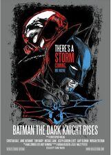 Batman - The Dark Knight Rises SILKSCREEN MOVIE CINEMA POSTER -POSTER SERIGRAFIA