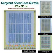 Nature Print Sheer Window Curtains