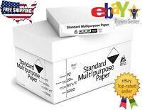 "5000 Sheets Multipurpose Printer, Copy Paper White 8 1/2 x 11"" 10 Reams Case"