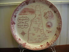 GRANITE STATE! British Anchor Vintage Porcelain New Hampshire State Map Plate