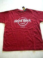 HRC Hard Rock Cafe Athen Athens Red Tee Shirt Used Optik Youth Size 158-164 Boys