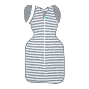Love to Dream Swaddle Up Transition Bag 50/50 - 3 SIZES - GREY STRIPE 1TOG