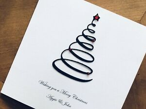 Personalised Handmade Christmas Cards - Christmas Tree 13.5cm X 13.5cm