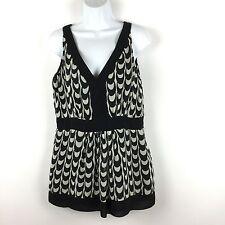 Womens Alfani Sleeveless 100% Silk Blouse Career Top Size 10