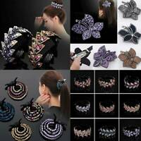 Women Fashion Hair Clip Crystal Claw Ponytail Bun Holder Girls Hair Comb Hairpin