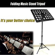 Metal Adjustable Sheet Music Stand Holder Folding Foldable WITH CARRY CASE BAG@B