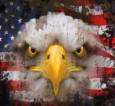 "USA Flag And Eagle Decal Bumper Sticker Outdoor 5"" Square America Patriotic"