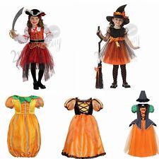 Girl Fancy Dress Outfit Kids Pirate Witch Pumpkin Princess Halloween Costume