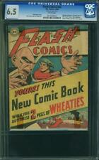 FLASH COMICS from 1946 no number cgc 6.5 wheaties cereal