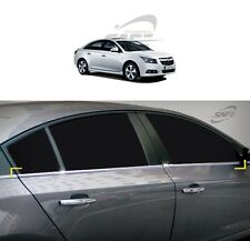 SAFE Window Door Belt Chrome Molding 4Pcs For Chevrolet Cruze 4D 5D 2011 2014