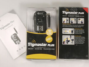 PRL) APUTURE TRIGMASTER PLUS TRANSCEIVER TX/RX CANON CAMERA FLASH WIRELESS 2.4
