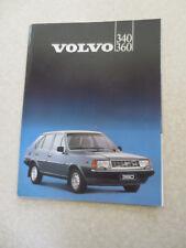 1983 Volvo 340 & 360 automobile advertising brochure