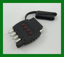 5 pole Flat Trailer Light  Plug 12V Circuit Tester LED Truck