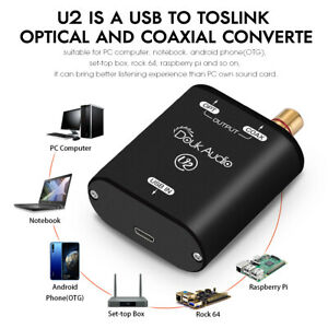 USB TO SPDIF Converter XMOS XU208 Coaxial Optical Toslink Support Source Output