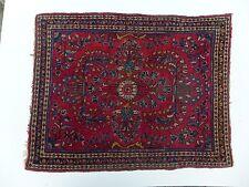 Antique Handmade Persian Saruok Small Rug 2'X2.6'