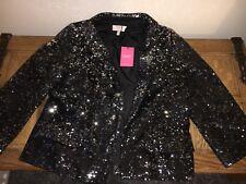 Ladies Next Black Silver Sequin Jacket Blazer New 12 BNWT Wedding Petite Sparkle