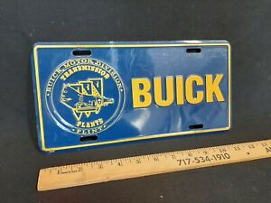BUICK Transmission Plant FLINT GM License Plate Filler Panel Metal NO RESERVE