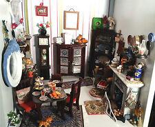 Antebellum Georgian Country Kitchen Fireplace Set Room Dollhouse 1:12 Miniature