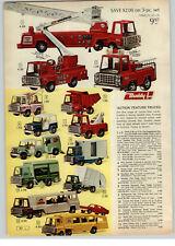 1968 PAPER AD Buddy L Toy Dump Truck Fire Canada Dry Major Matt Mason Tex Starr