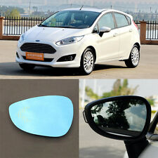 Rearview Mirror Blue Glasses LED Turn Signal with Power Heating For Ford Fiesta