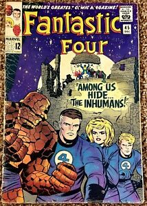 Fantastic Four #45 1st App Inhumans Lockjaw Stan Lee Jack Kirby (Marvel, 1965)