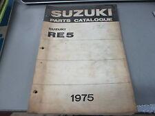 Suzuki OEM Parts Catalogue Manual 1975 RE5