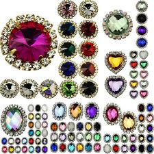 10pc Diamante Rhinestone Button Flatback Wedding Invitation Embellishment Sewing