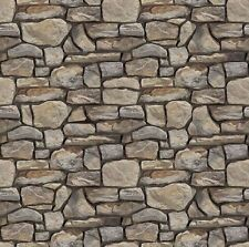 New 1/12 Scale 200MM X 270MM Self Adhesive Stone Wall Paper Sheets 2D