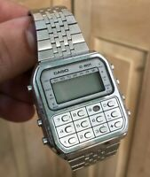 Casio C 801 Montre Calculette Calculatrice Watch C801 Vintage 1980 80 Design