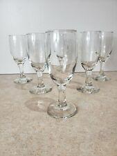 Vintage Set of Stemmed Water Glasses Old