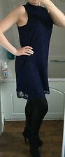 Gorgeous Black and Blue Lace dress size 10 NEW