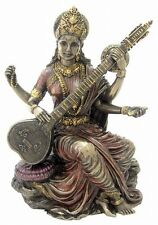 Sarasvati Saraswati Statue Hindu Goddess of Learning Education Figurine #1973