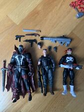 Marvel legends and mcfarlane toys lot spawn the punisher and cable and EXTRA FOD