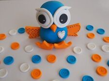 Cute Giggle and Hoot CAKE TOPPER Edible Decoration BUTTONS 1st BIRTHDAY PARTY