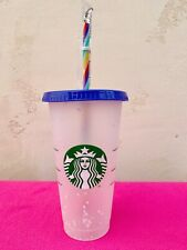 Starbucks Color Changing Confetti Cup With Rainbow Straw