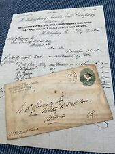 Vintage Illustrated Bill Head Hollidaysburg, Pa Receipt With Envelope 1893
