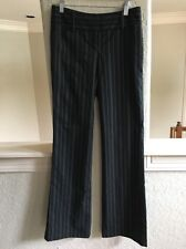 Womens Express Editor Dress Pants 0 Black Pin Stripe