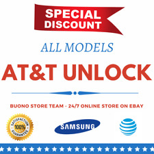 UNLOCK CODE FOR AT&T ATT Samsung Galaxy S7 S6 S5 S4 S3 S2 S1 Note 2 3 All Models