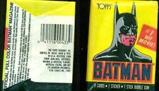 BATMAN Topps Trading Cards 1st series (1989) two unopened packs as shown FINE